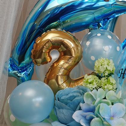 バルーンギフト バルーンアレンジ イルカ ドルフィン 文字入れ 誕生日 お祝い プレゼント バルーンアート通販ショップ KOO-DOO
